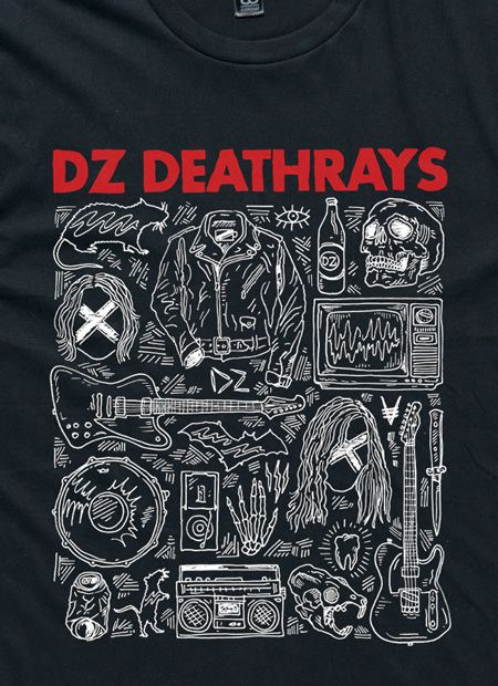 I OH YOU x DZ Deathrays Black Tee by I Oh You