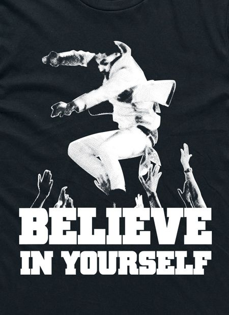 The Underdogs: Believe In Yourself Tee (Black) by I Oh You