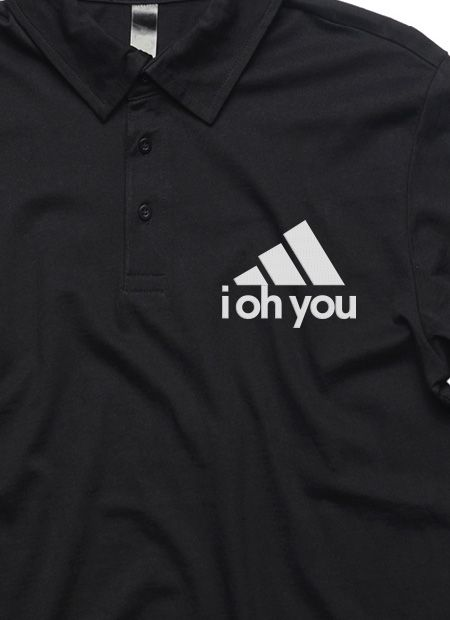 """All Day I Dream About Sex"" Black Collared Polo by I Oh You"